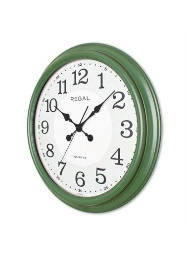 Ultima Regal Ultima Regal Eskitme Büyük Boy Klasik Duvar Saati Yeşil Renkli